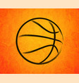 Abstract basketball drawn on a orange background