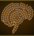 abstract brain of glowing radial dots vector image vector image