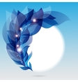 abstract frame with branch blue leaves vector image vector image