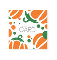 abstract vegetable card with colorful pumpkin vector image