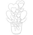 adult coloring bookpage a valentines day jug vector image vector image
