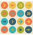 arrow sign icon set flat design web design vector image vector image