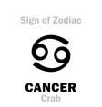 Astrology Sign of Zodiac CANCER The Crab vector image vector image
