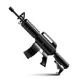 Automatic weapon isolated on white vector image vector image