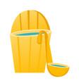 bath barrel with ladle cartoon vector image