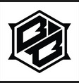 bb logo monogram design template