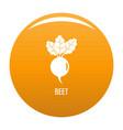 beet icon orange vector image