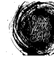 black and white Happy New Year hand lettering vector image vector image