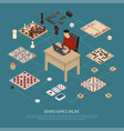 board games online composition vector image vector image
