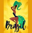 brazilian samba posters carnival in rio de vector image vector image