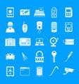 burglar robber plunderer icons set simple style vector image