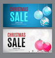 christmas and new year sale gift voucher discount vector image vector image