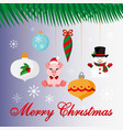 christmas decorations merry and new vector image