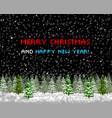 christmas greeting card tree pixelart vector image