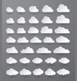 cloud abstract white cloudy set isolated on dark vector image vector image
