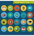 Detailed information icon set vector image vector image