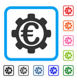 euro payment options framed icon vector image vector image