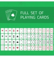 full set playing cards vector image