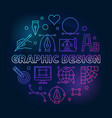 graphic design colored round line vector image vector image