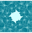 Green blue Begonia flowers round frame vector image vector image