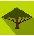 Green tree with a spreading crown icon flat style vector image vector image