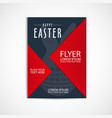 happy easter day flyer template eps file vector image vector image