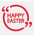 happy easter lettering design vector image