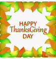 happy thanksgiving day background vector image
