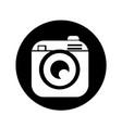 hipster camera photo icon design vector image