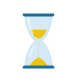 hourglass flat icon glass made sand clock vector image vector image