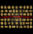 large collection of various golden labels vector image