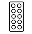 medicine tablets icon vector image vector image