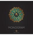 modern monogram logo template vector image