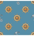 Nautical or marine themed seamless pattern with vector image