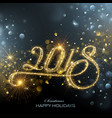 new year 2018 fireworks vector image vector image
