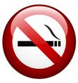 no smoking mark vector image vector image
