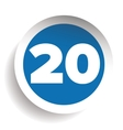 Number twenty icon vector image vector image