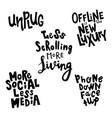 offline lettering-03 vector image vector image