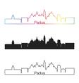 Padua skyline linear style with rainbow vector image vector image