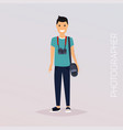 photographer with camera flat design modern vector image