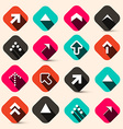 Retro Arrows Set in Squares Isolated on Retro vector image vector image