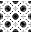 Seamless pattern with white tracery on a black vector image vector image
