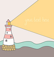 ShipLighthouse6 vector image