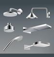 shower heads metallic accessories for bathroom