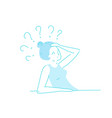 sick stressed dizzy person hand drawn vector image