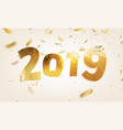 stock 2019 happy new year vector image vector image