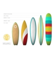 surfboards for infographics and posters vector image vector image