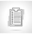 Survey flat line design icon vector image vector image