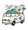 trip to beach vector image