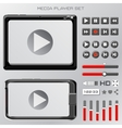 video player interface vector image vector image